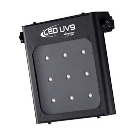 Projecteur led uv pourvu de 9 leds 1watts