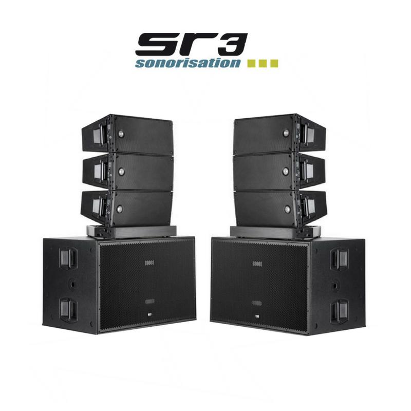 gros son sur lille avec des systèmes en cluster en line array chez sr3  sonorisation